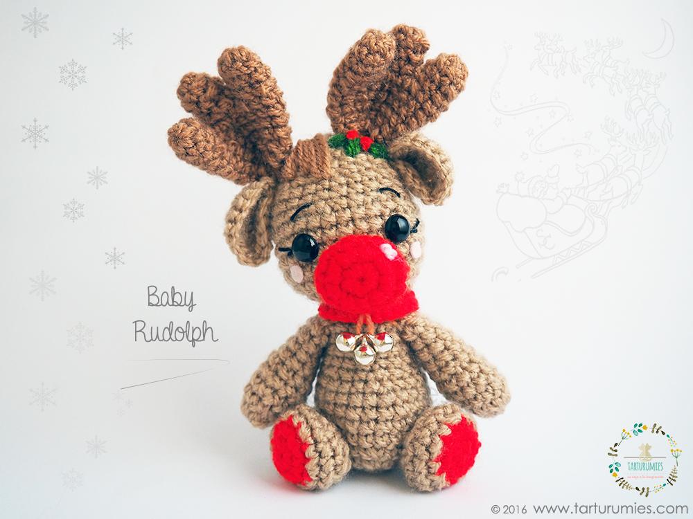 Amigurumi Patrón: Reno Baby Rudolph | amirugumis patrones ...