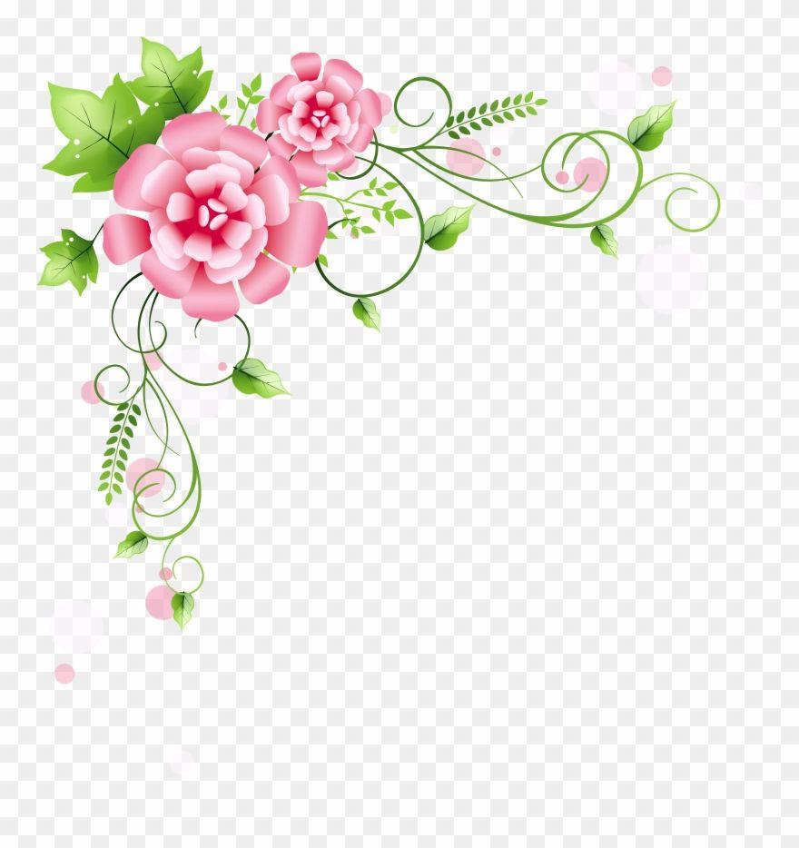Corner Floral Decoration Png Clipart Picture Pink Floral Corner Border Png Transparent Png Free Clip Art Floral Decor Pink Floral