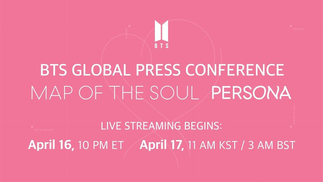 Bts Global Press Conference Map Of The Soul Persona With
