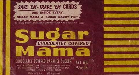 Sugar Mama candy c  1964 | Vintage Products | Old candy