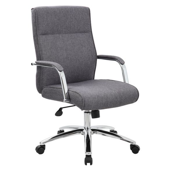Modern Executive Conference Chair Gray Boss In 2020 Chair Fabric Comfy Office Chair Conference Chairs