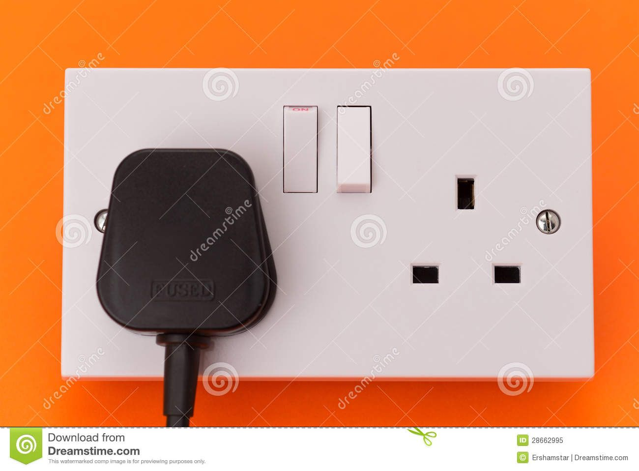 Uk Electrical Wall Socket Outlet And Plug Sockets Plugs Electricity