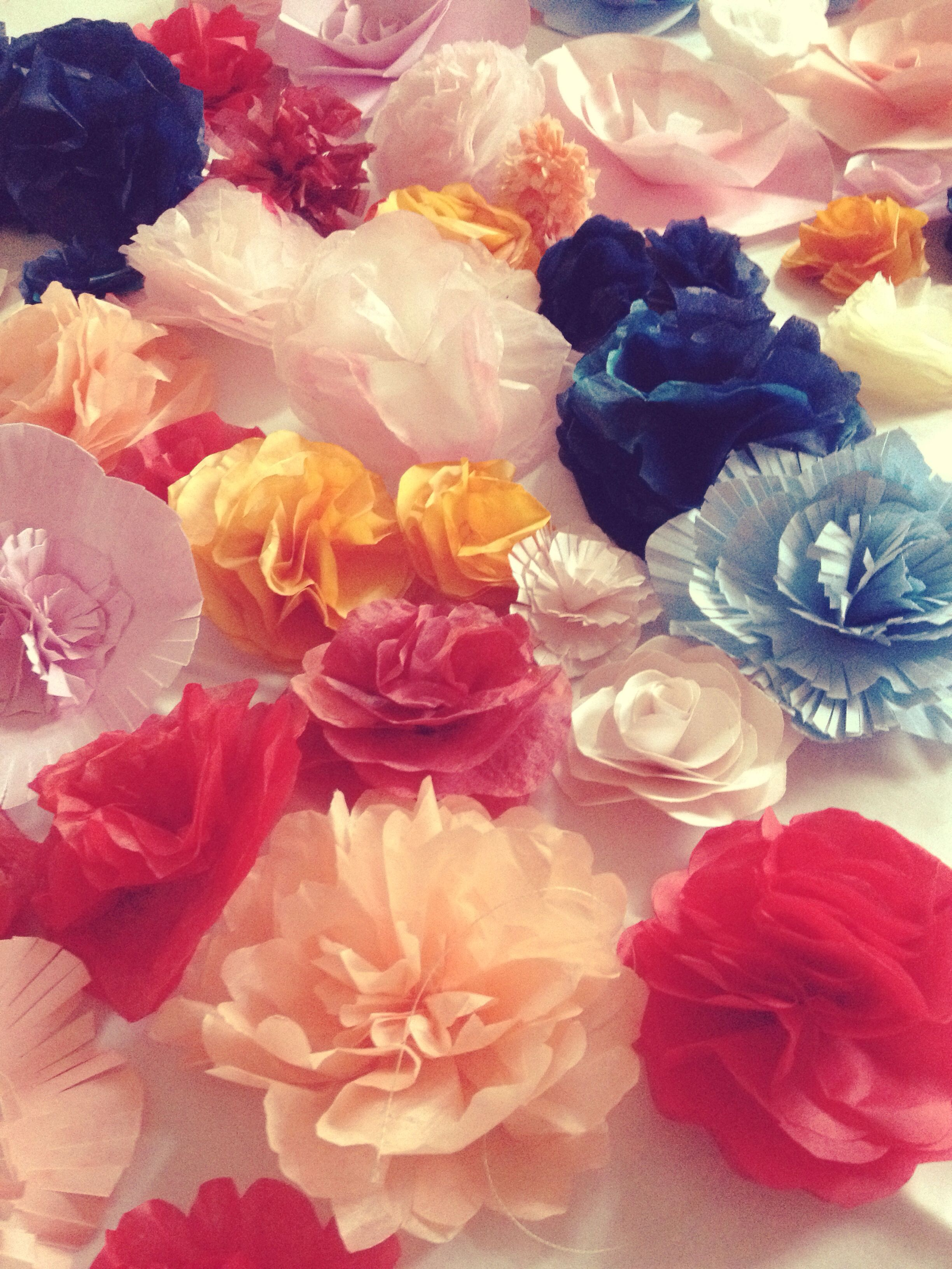 Home Made Paper Flowers And Home Made Tissue Paper Flowers Hen