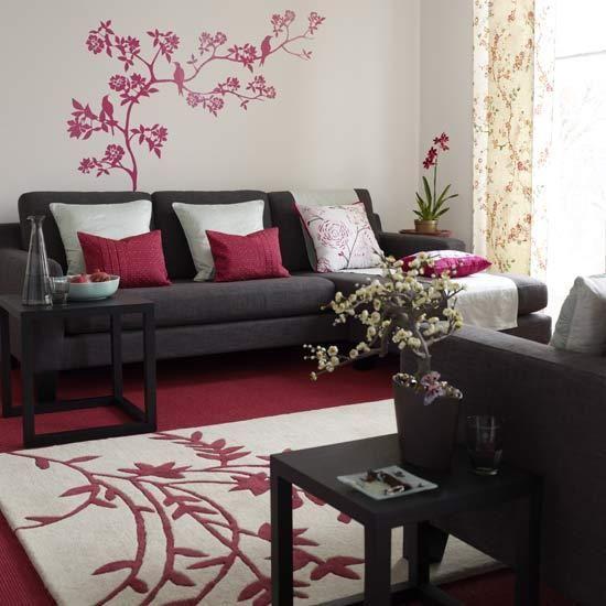 Lavish Brighton Penthouse On The Market For â 700 000 But It Has A Huge Secret Ideal Home Burgundy Living Room Asian Living Room Asian Home Decor