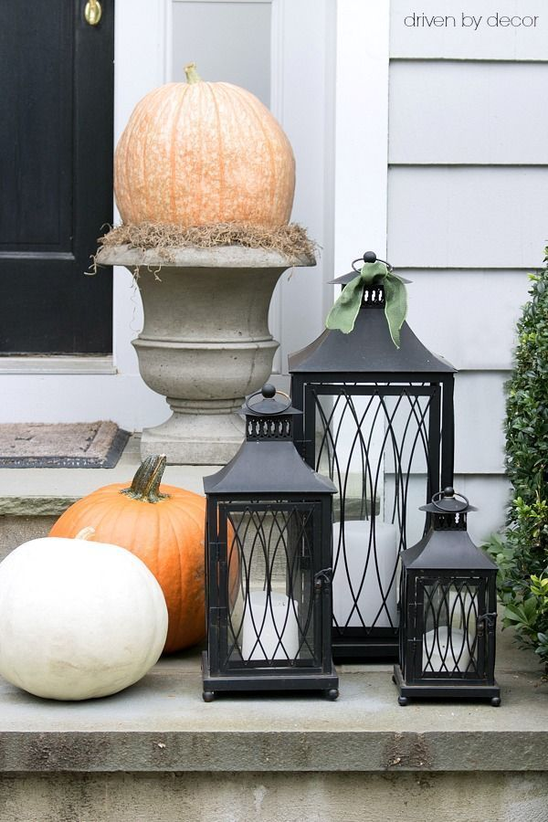 My 2016 Eclectically Fall Home Tour Front porches, Porch and - decorating front porch for halloween