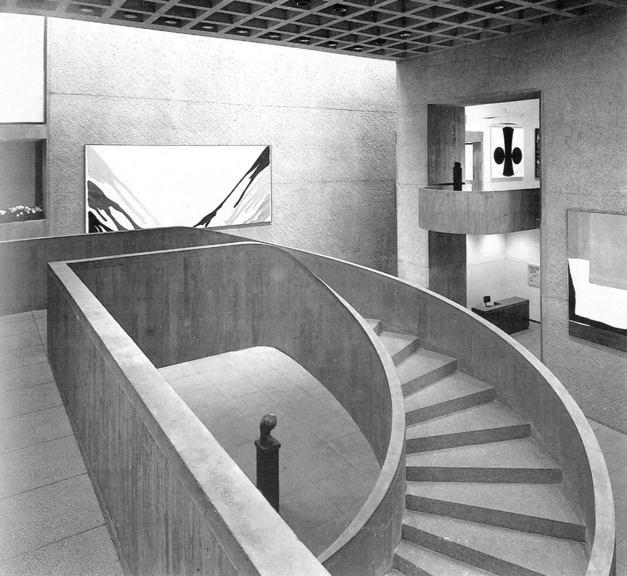 Beton Wendeltreppe Everson Museum Of Art Syracuse University I M Pei 1964