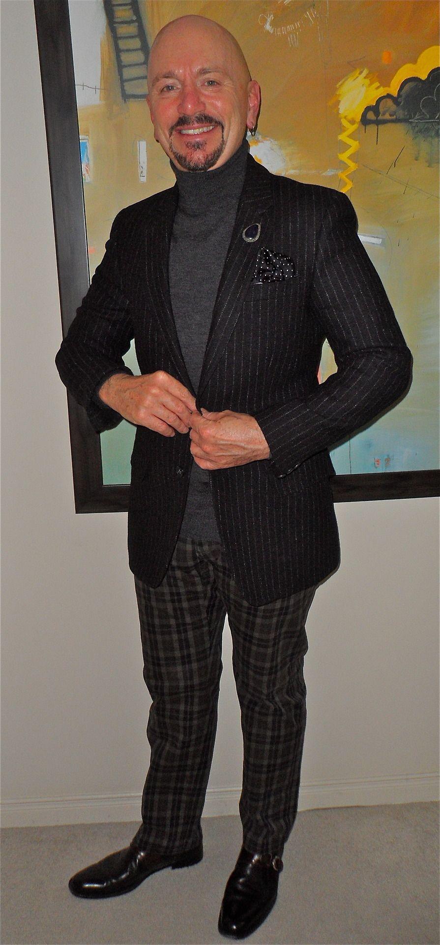 Moon blazer, Gap turtleneck, Mason's jeans, Italian leather bag, Lorenzo Banfi boots...