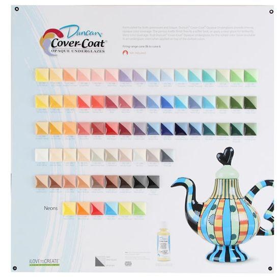 Cover Coat Opaque Underglazes Tile Chart Duncan Color Lines Opaque