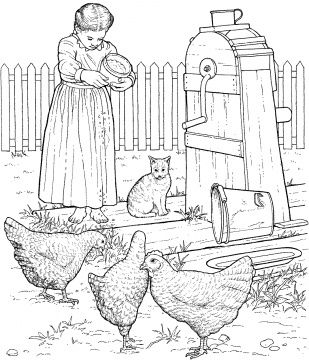 Farm animal digi and coloring pages on Pinterest Farm