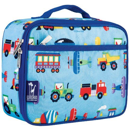 Children/'s Trucks Theme Insulated Lunch Bags