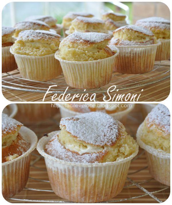 Tortine con crema alla ricotta http://facileveloce.blogspot.it/2015/05/muffin-veloci.html