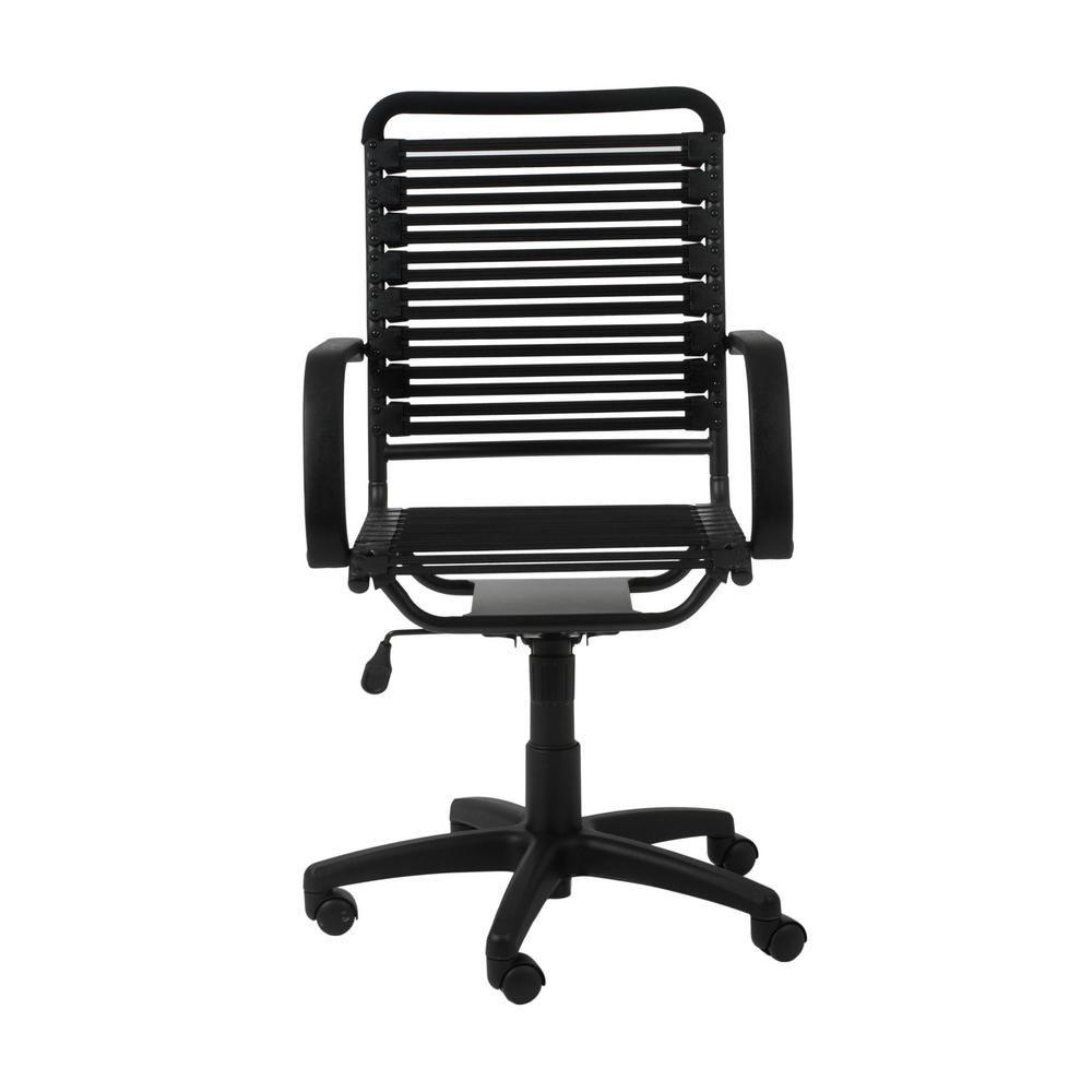 Super Eurostyle Bungie Black Flat High Back Office Chair Interior Design Ideas Clesiryabchikinfo