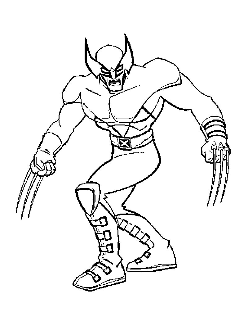 Cyclops Coloring Pages Collection Cartoon Coloring Pages Superhero Coloring Pages Mermaid Coloring Pages