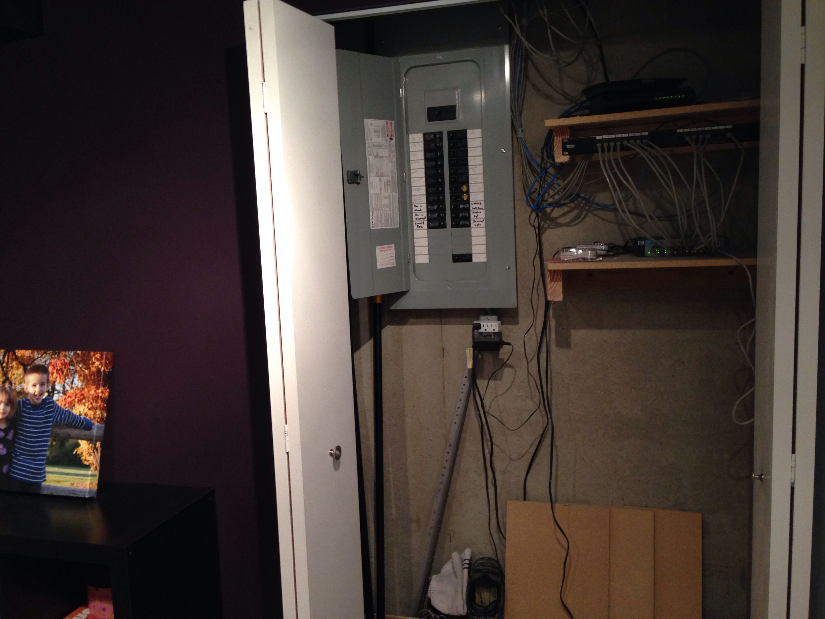 Small Closet At Bottom Of Steps To Case In Circuit Breaker Box