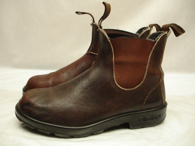 Womens Blundstone 500 Stout Brown Boots leather sz 5 7.5 38 M ankle western  work