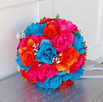 Wedding Colors Hot Pink And Turquoise Blue