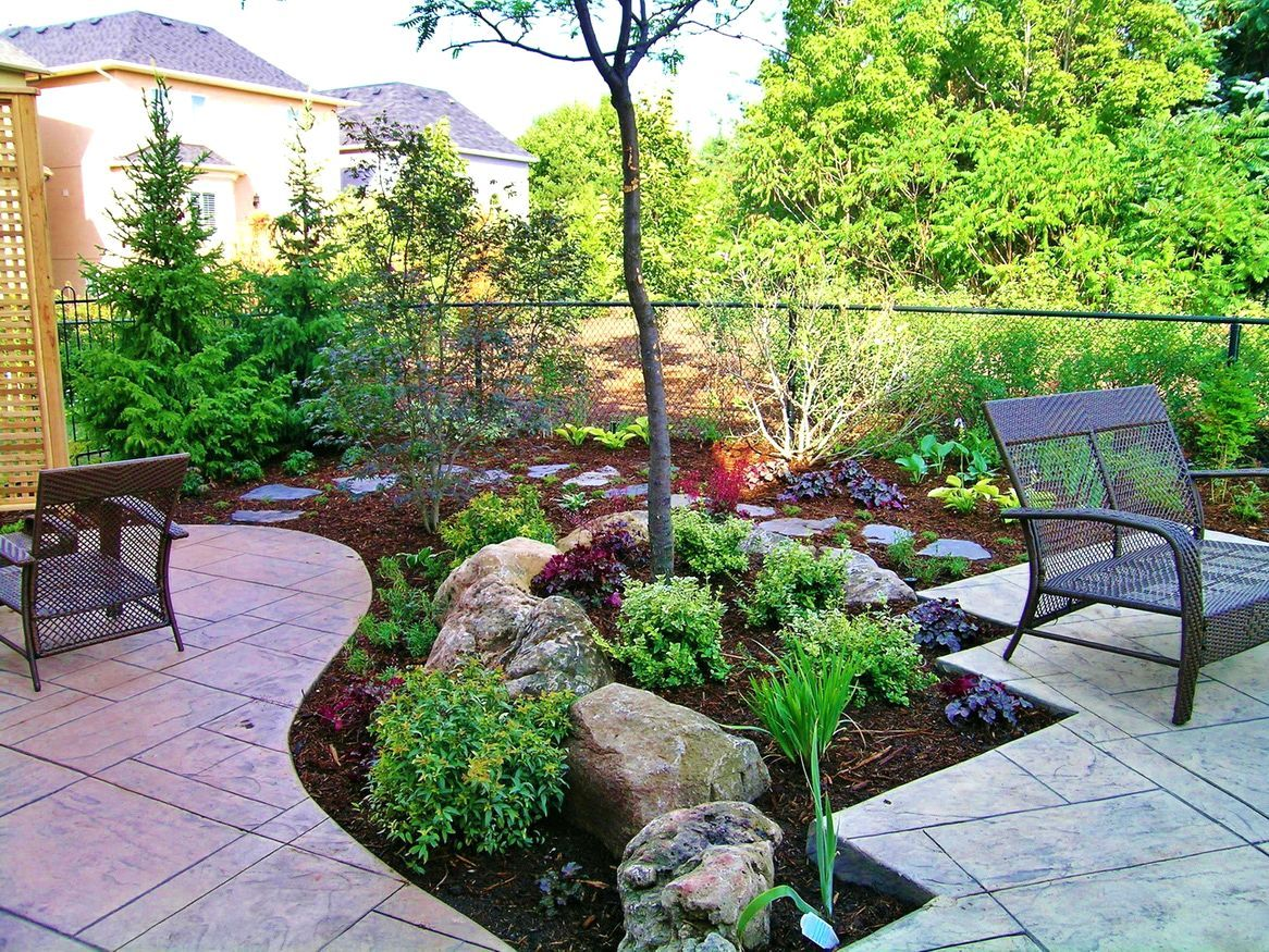 Design-side-of-the-house-do-it-yourself-landscaping-ideas.jpg (1166×875) | Small Backyard Landscaping, Backyard Landscaping Designs, Small Backyard
