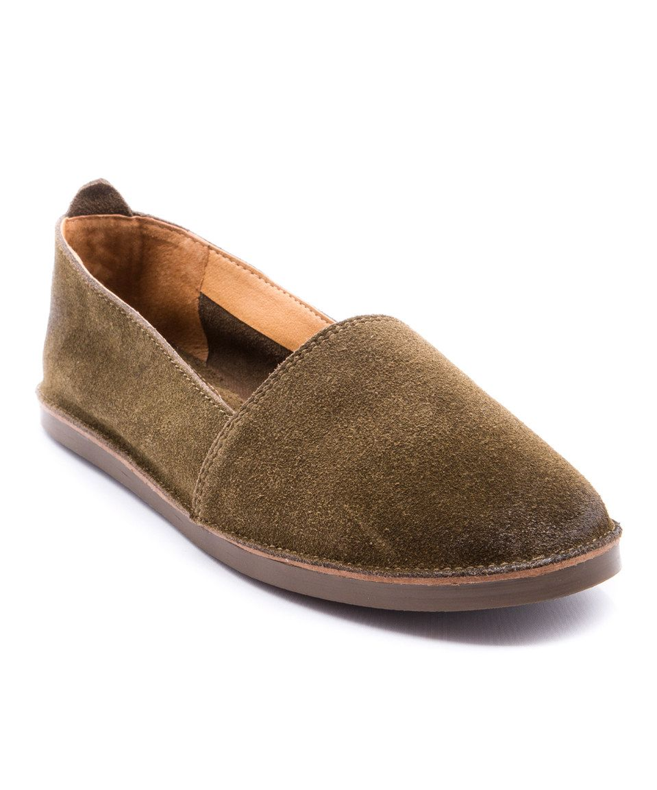 Another great find on #zulily! Olive Twyla Suede Flat by Latigo #zulilyfinds
