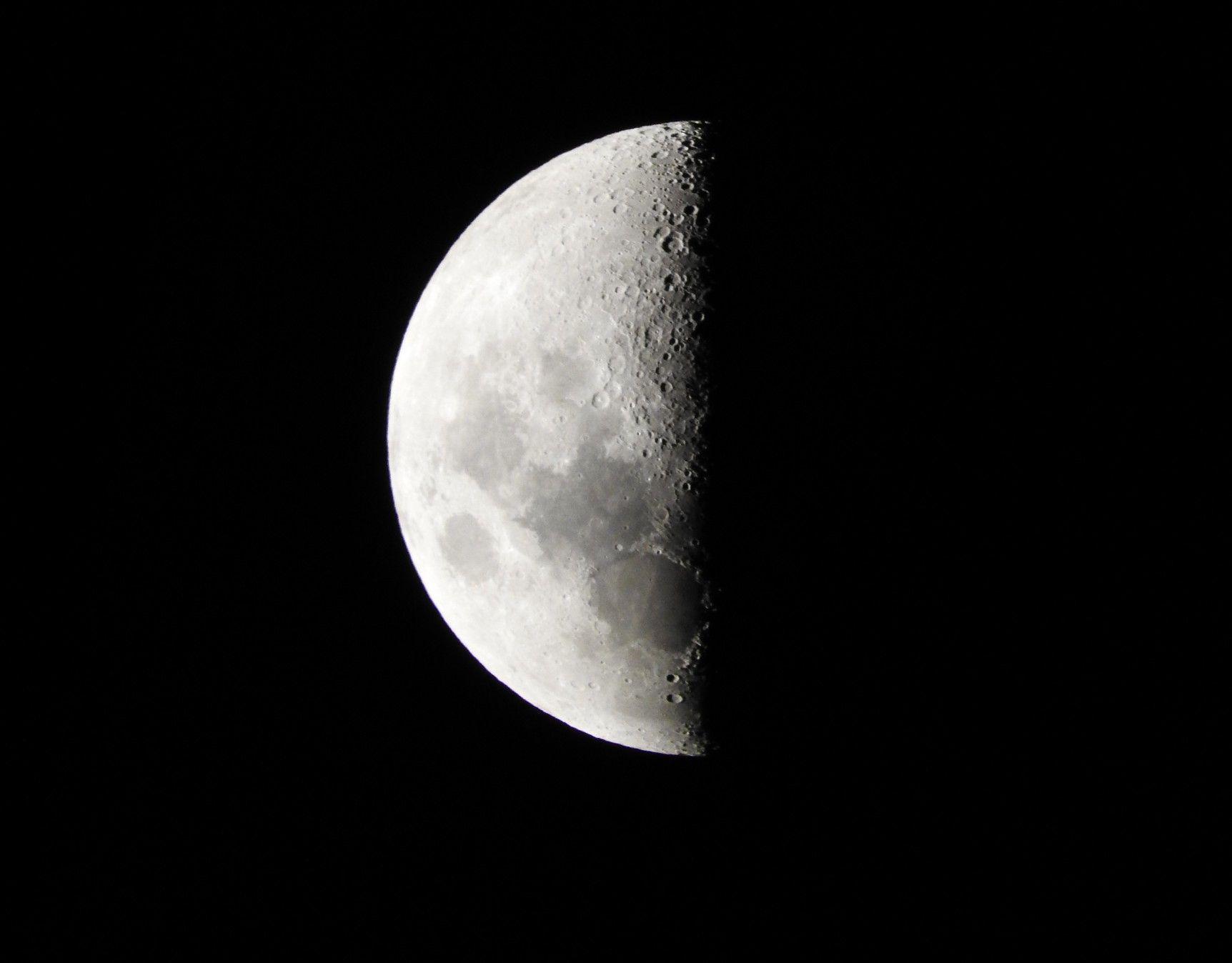 Luna Cuarto Creciente 48% | Luna | Pinterest