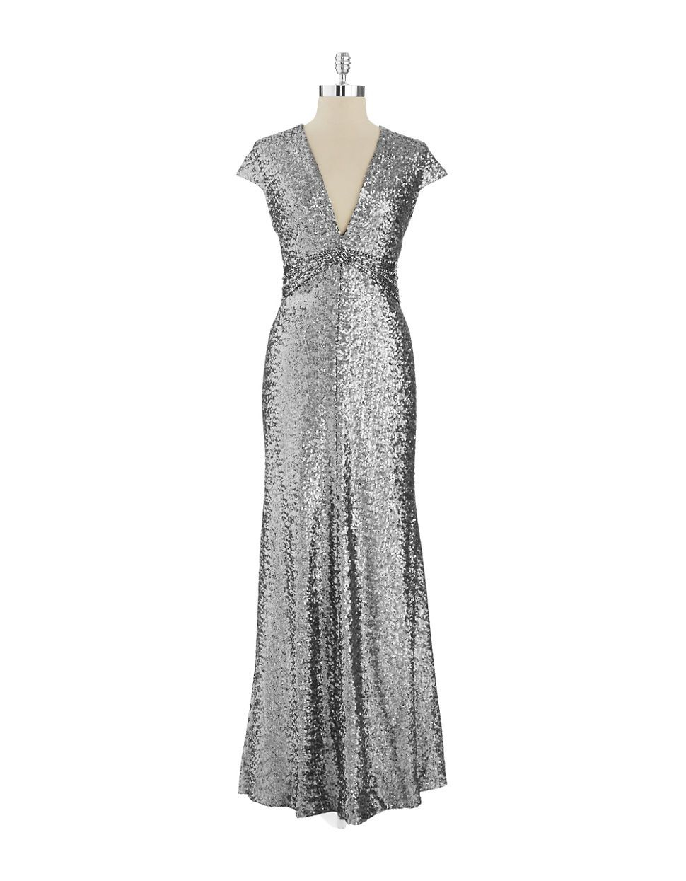 Women\'s Clothing | Formal/Evening | Sequin V-Neck Gown | Lord and ...