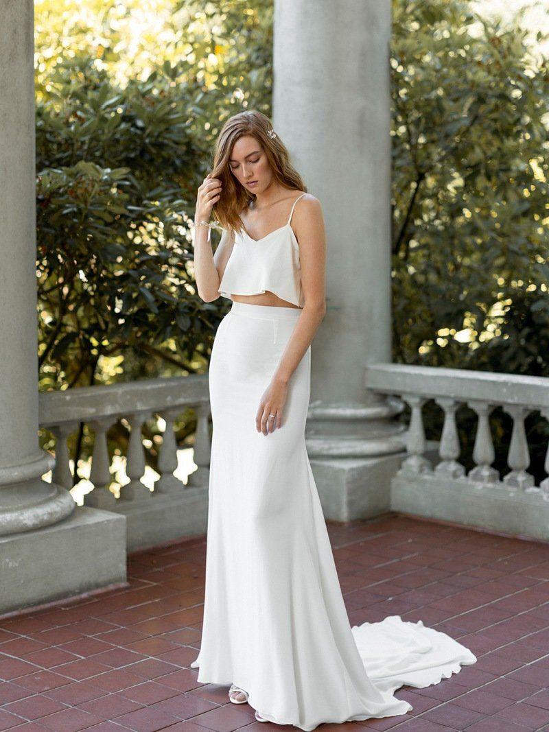 Kalle topper ivory silk bridal dresses and shank