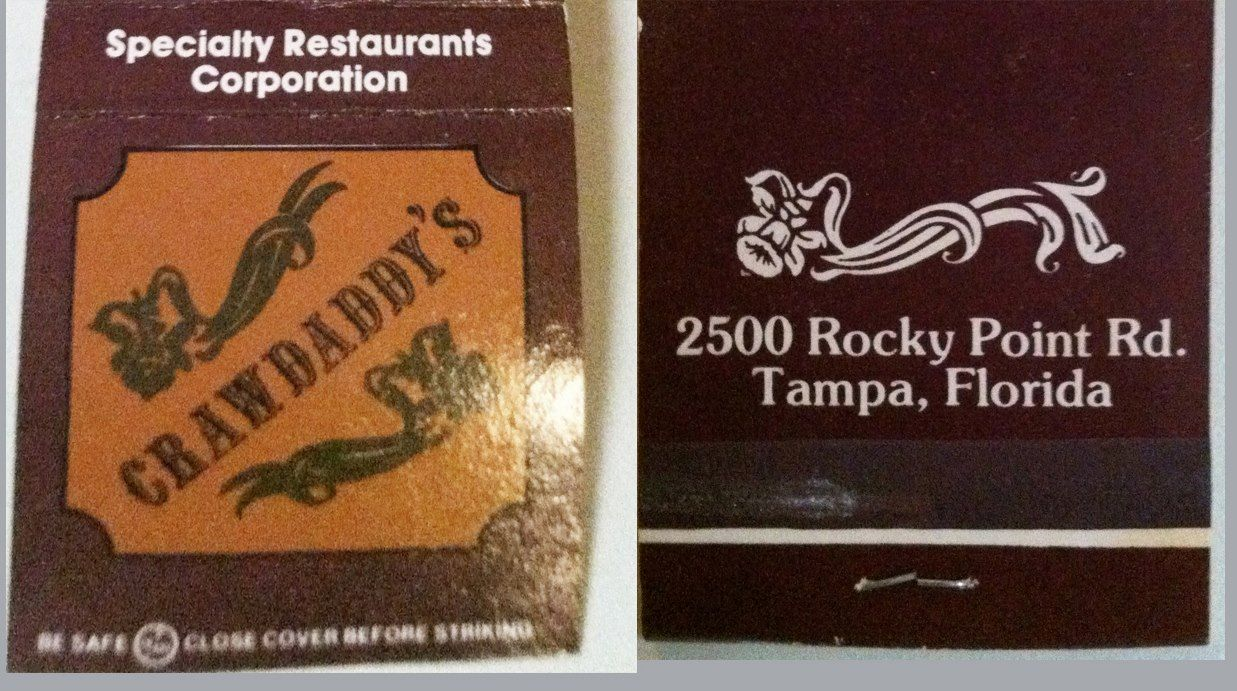 Matchbook Crawdaddys Tampa, FL Matchbook, Cards against