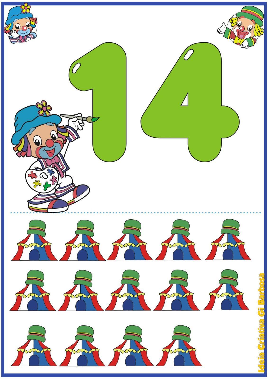 Numerais de Parede Patati Patatá 11 a 20 | Математика | Pinterest | Math
