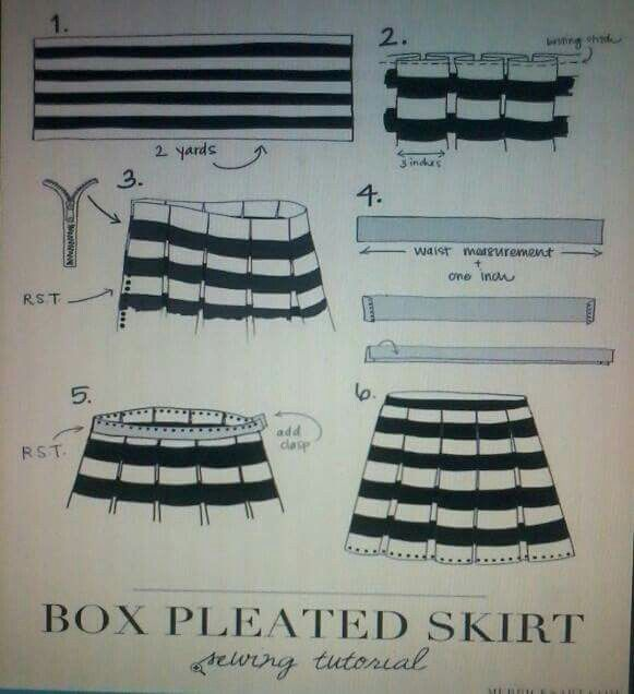 box pleated skirt how to sew