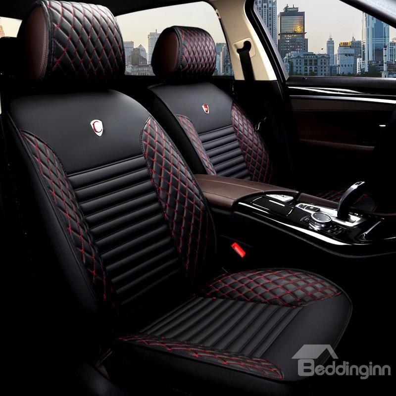 Tasteful Colorful Elegant Shape Plaid Leather Universal Car Seat Cover Car Seats Volkswagen Karmann Ghia Custom Car Interior