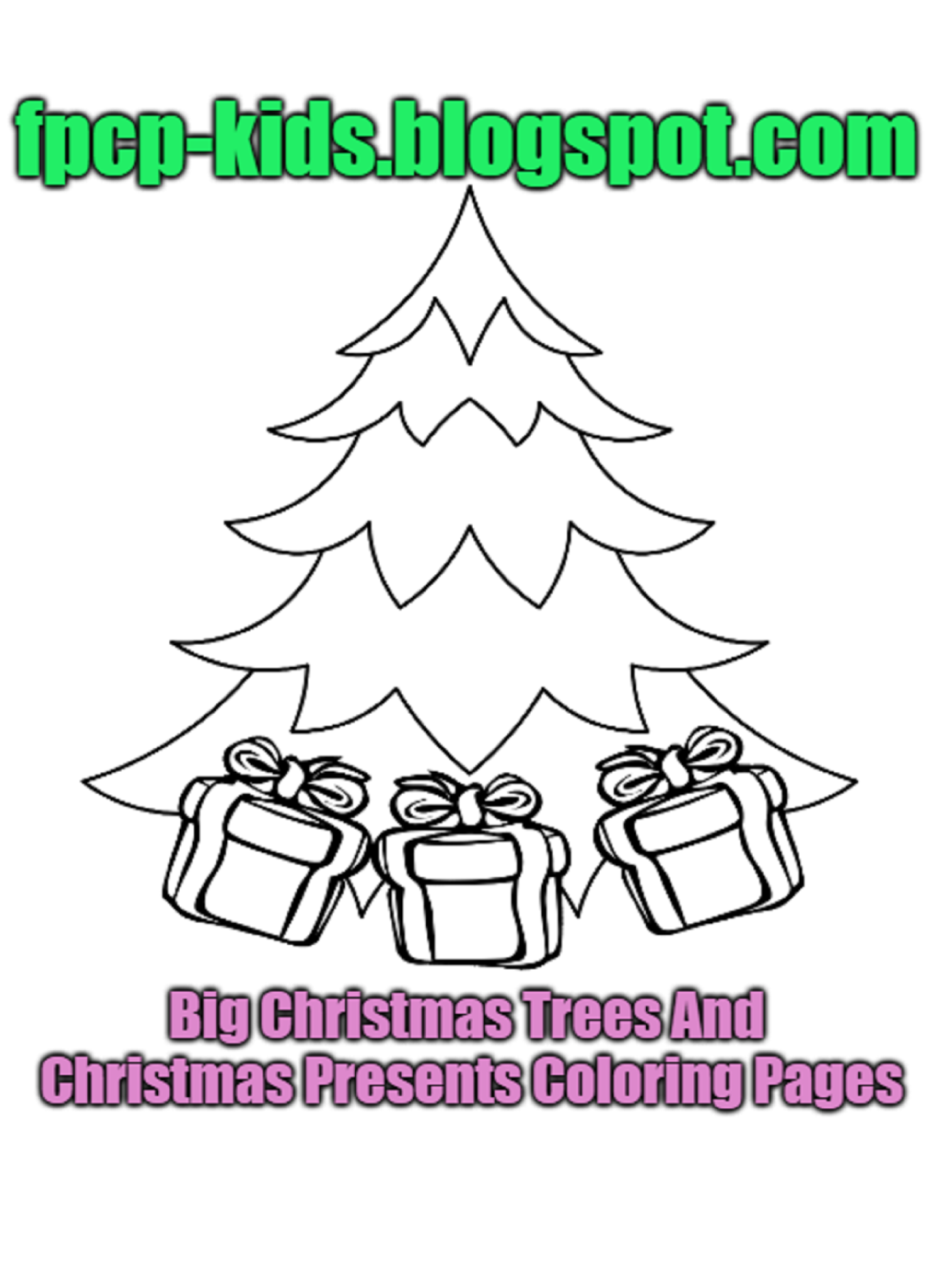 big christmas trees and christmas presents coloring pages christmas trees free printable coloring pages