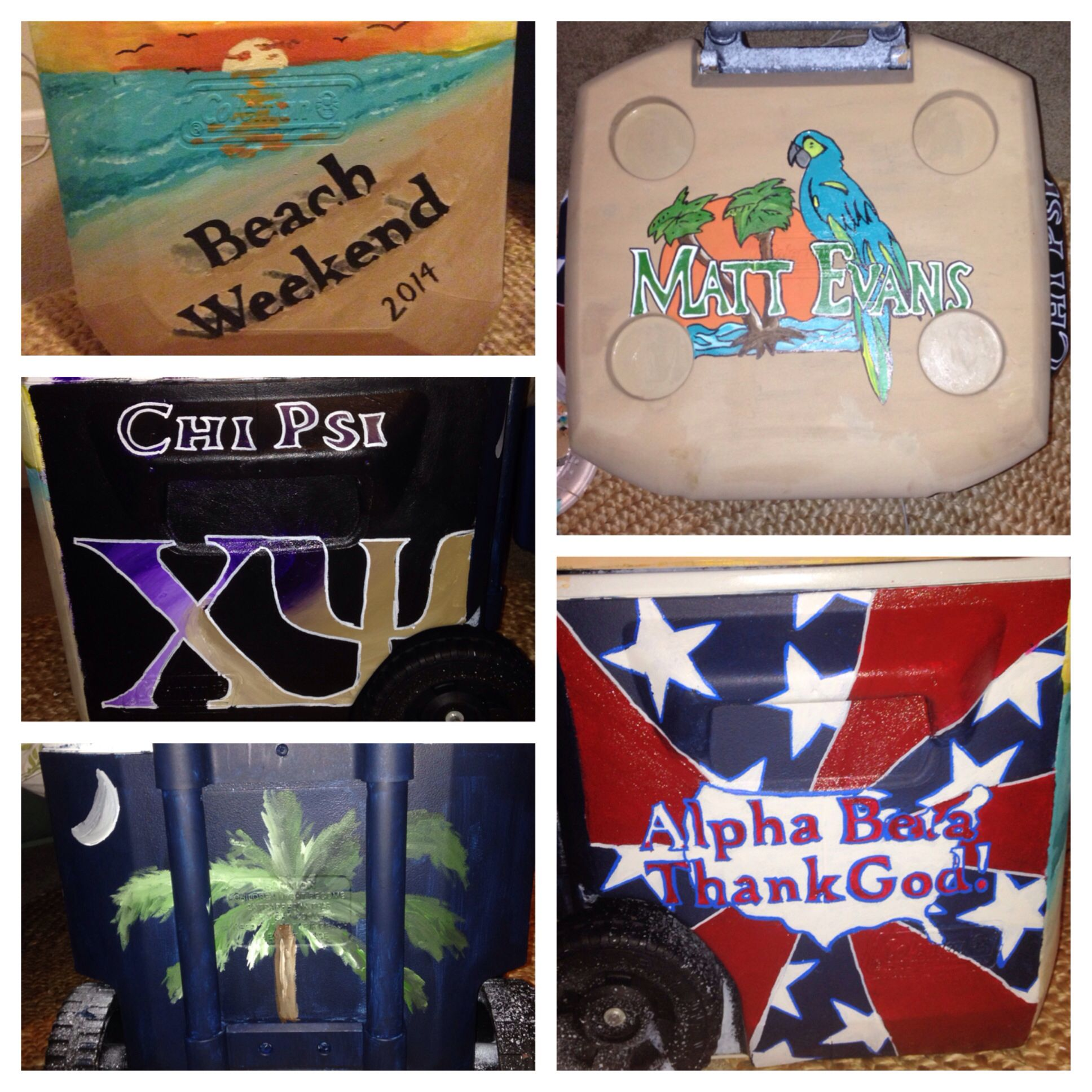 Beach Weekend Fraternity Cooler