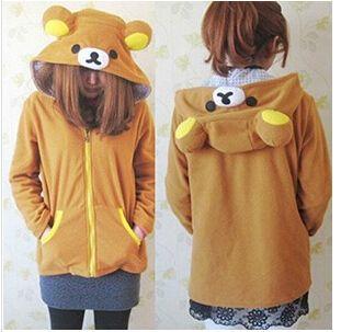 Lovely animal modeling,Rilakkuma Hoodie Sweatshirt Jacket Coat Halloween Costume