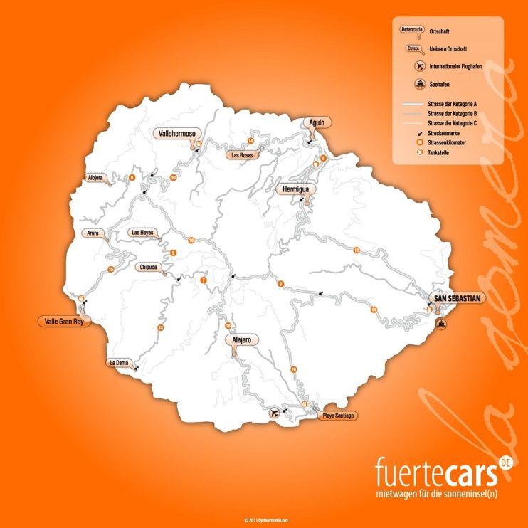 La Gomera road map Maps Pinterest La Gomera Islands and Road maps