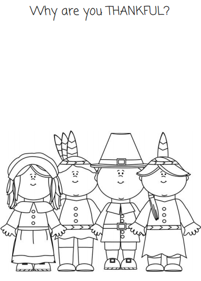 Thanksgiving coloring page What Are You Thankful For FREE PRINTABLE ...