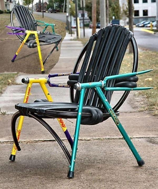 Re Cycled Bike Chairs 2