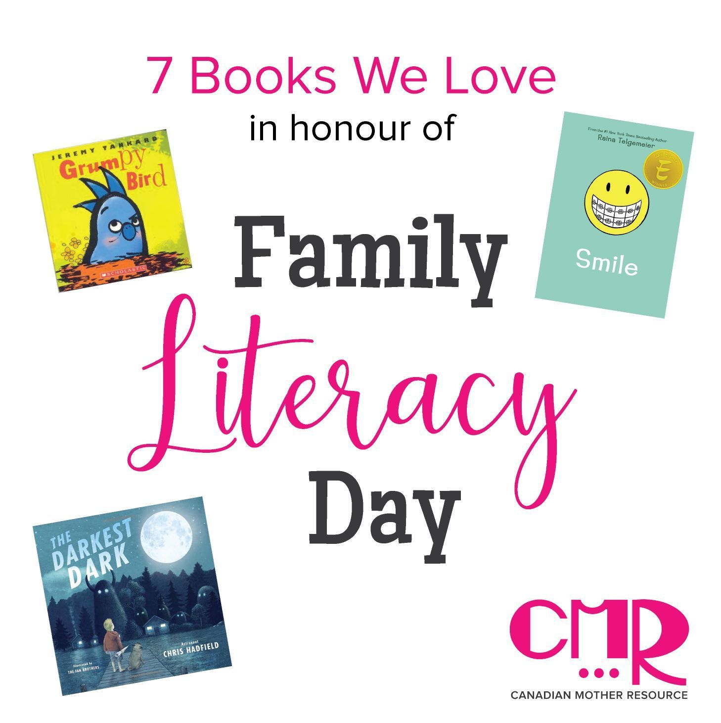 It's Family Literacy Day - the perfect opportunity to read with your child(ren)! Check out some books that we love - we hope our picks inspire you! (Click on link in bio; post is on our homepage)