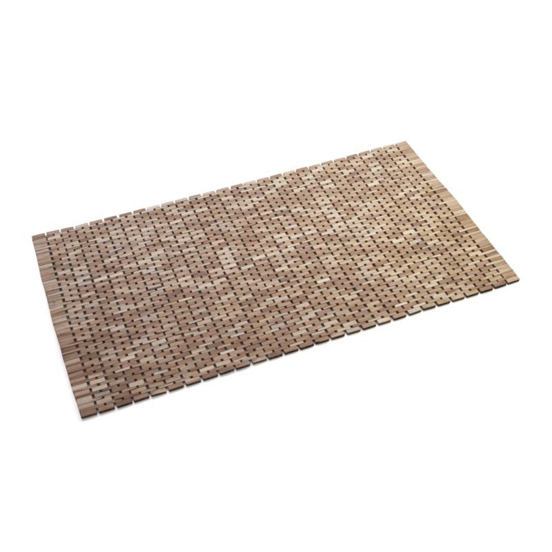 Crate And Barrel Bath Rugs: Lattice Wooden Mat