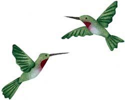 Pair of Hummingbirds Stencil