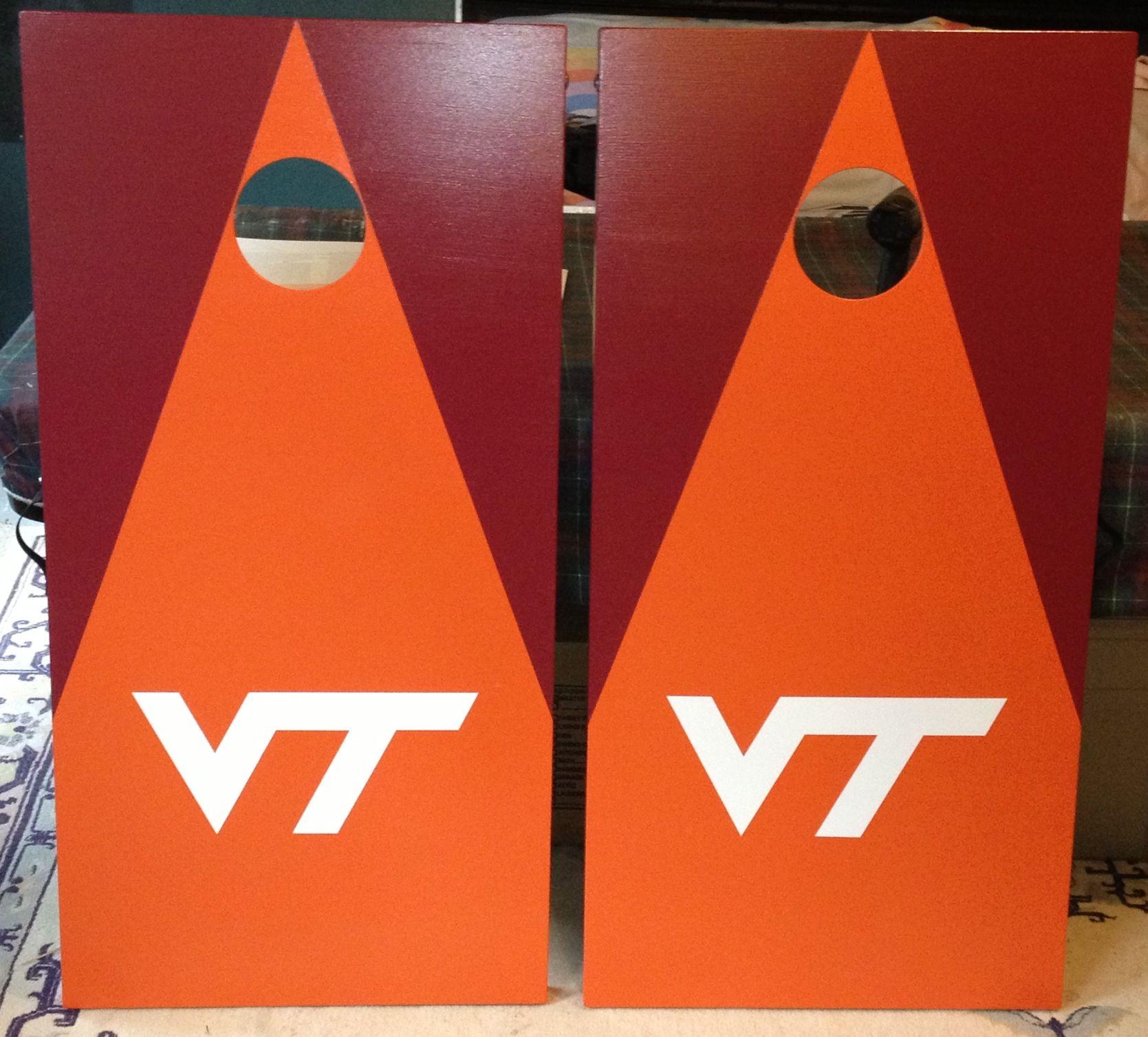 Virginia Tech Cornhole designs, Cornhole boards designs