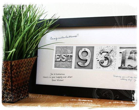 guest book signature frame for wedding date anniversary or retirement framed 16x32