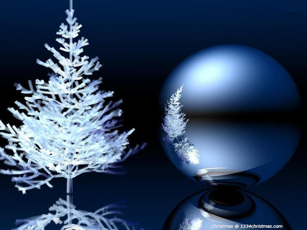 Christmas Tree White HD Wallpaper