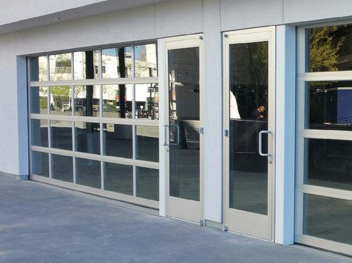 Pin By Nathan Cork Design On Glass Garage Door In 2020 Storefront Glass Glass Garage Door Garage Doors