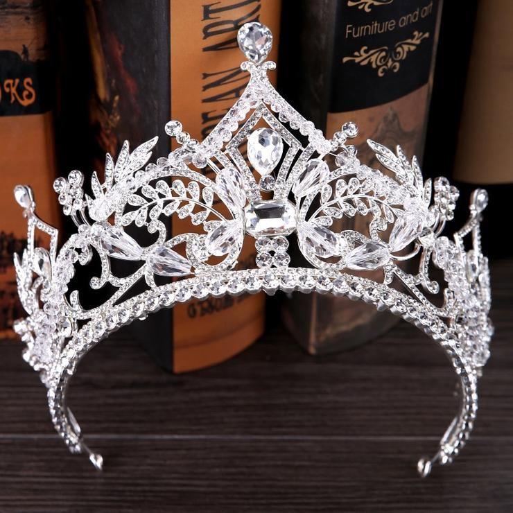 Ice Queen Crown Tiara Retro Bridal Hair Tiara Jewelry Banquet Party Prom Wedding Bridesmaid Hair Accessories #crowntiara