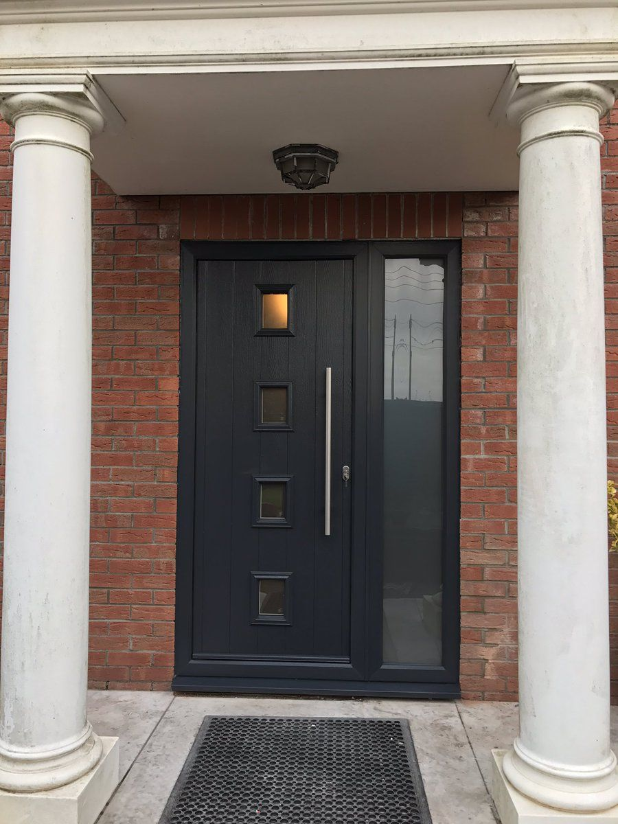 Pin By Sema Can On Kapı Pencere Modeli Grey Front Doors