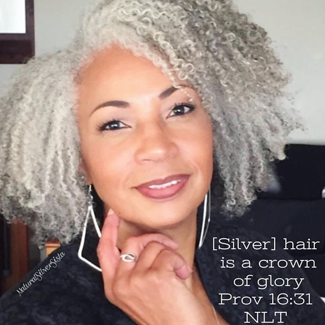 Naturalsilversista With Her Gorgeous Silver Curls