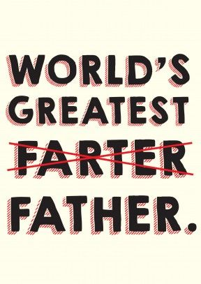 dcb3d3c8b World's greatest Farter/Father - Father's Day Card | Fathers Day Gifts