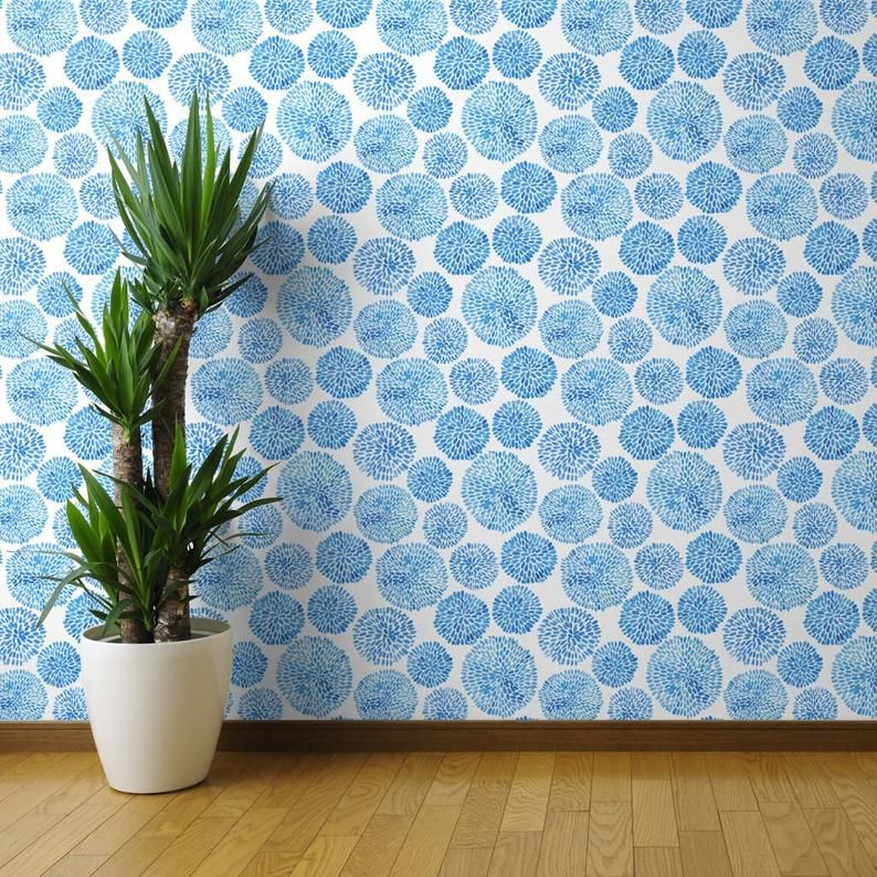 Japanese Wallpaper Japanese Garden By Tasiania Japan Blue Etsy Wallpaper Panels Peel And Stick Wallpaper Wallpaper Roll