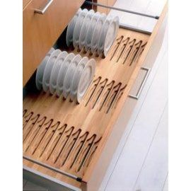 Blum/Grass Plate Rack Drawer Insert Solid Beech Vertical Plate Storage