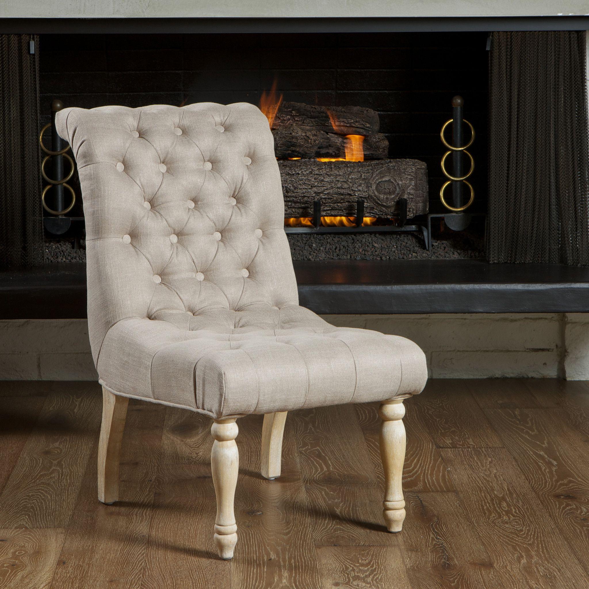 20 Best Minimalist Dining Room Design Ideas For Dinner: Aberdeen Tufted Beige Linen Dining Chair