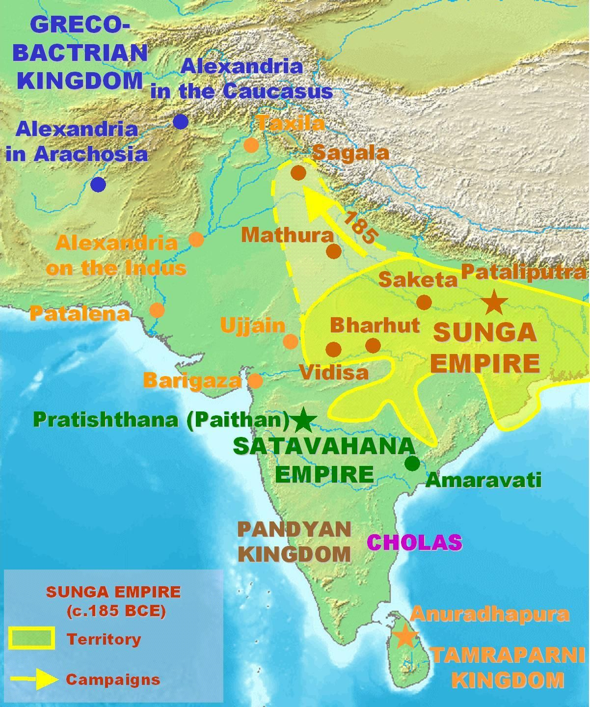Sagala As A Part Of The Sunga Empire 185 To 73 Bce With